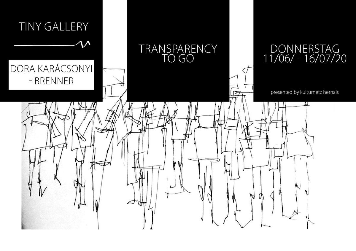 "KNH-TINY GALLERY #3 : DORA KARÁCSONYI-BRENNER ""transparency to go"" event impressions #1"