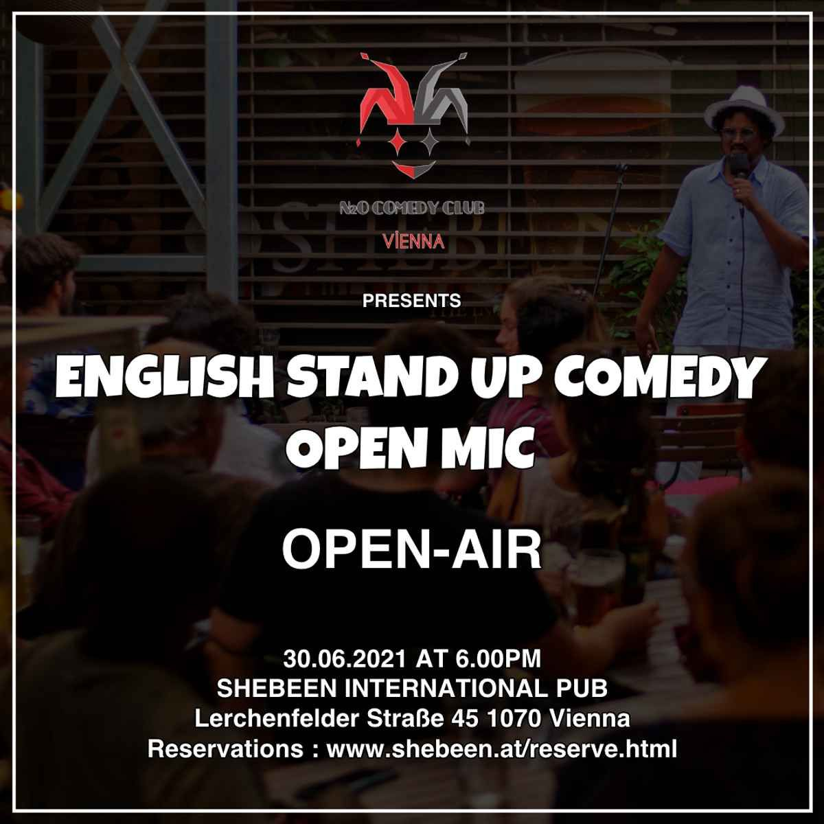 English Stand-Up Comedy Open Mic (Open-Air) event impressions #2