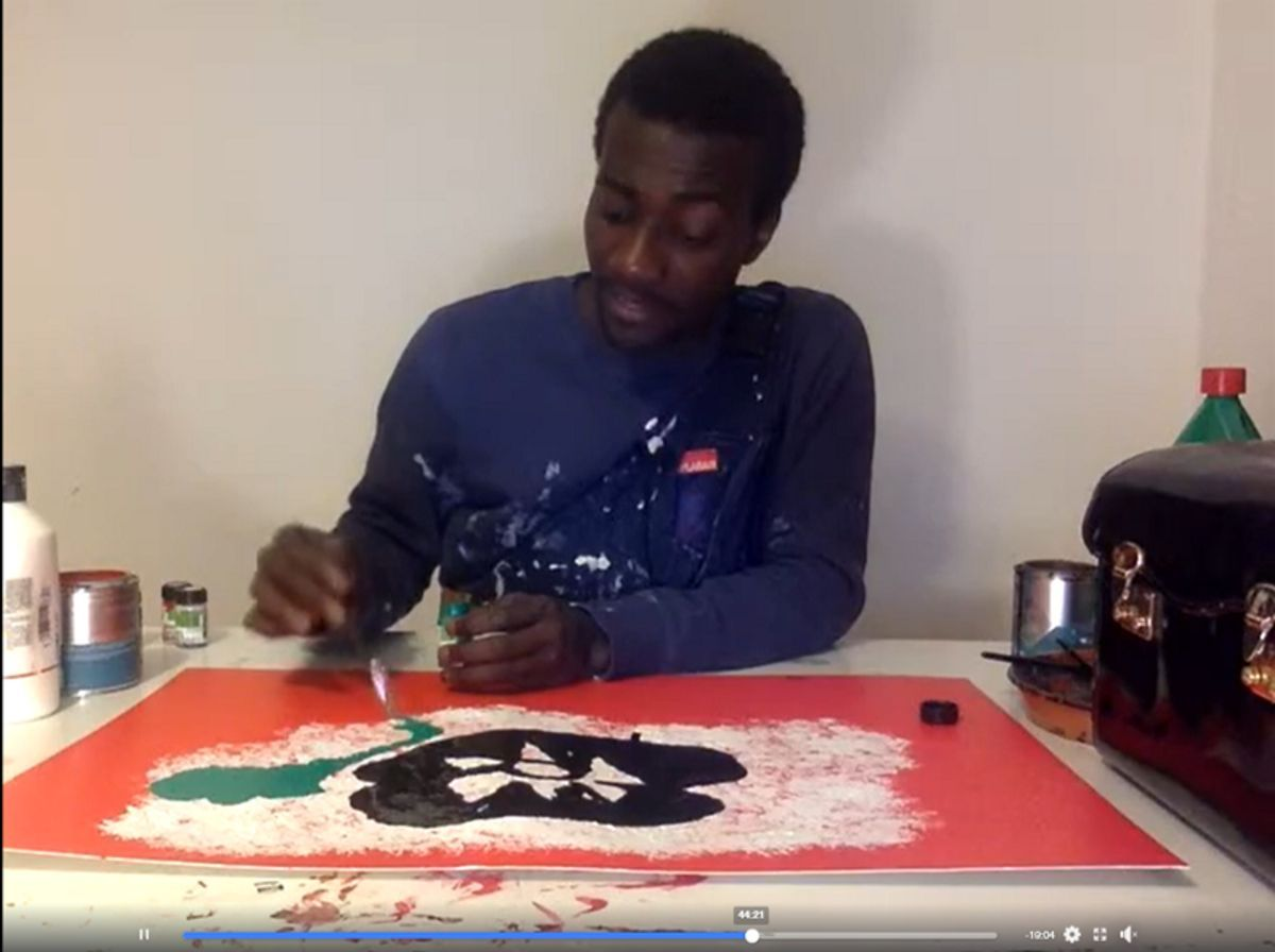 KWEKU AFRAM Live Painting Session event impressions #3